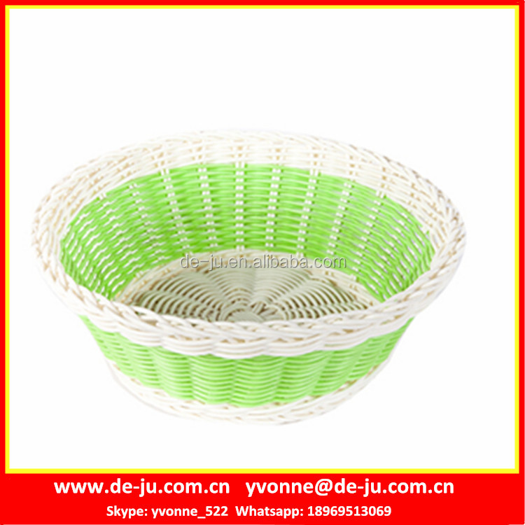 Green Plastic Fruit Small Wicker Basket