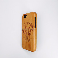 Natural Hand Made Carving Pattern Bamboo Wood Wooden Case For iPhone5 iphone 5S with factory price