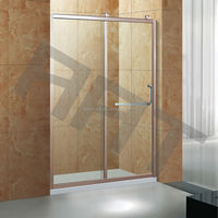 Square tempered glass shower door