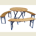HE-222,Wooden Folding Beer Table Set/Beer Table and Bench/Wood Garden/Patio/Outdoor Table set