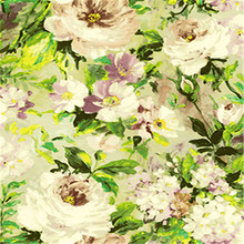 Flower stickers wallpaper soundproof material
