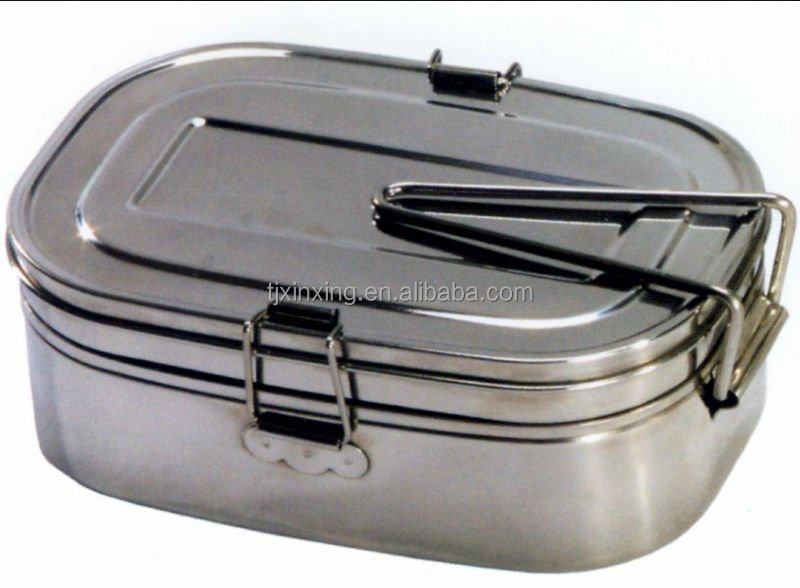 stainless steel military mess tin