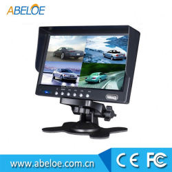 "Good brightness bracket mount , 7 inch car tft lcd dashboard monitor , 7"" wireless mirror link"