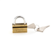 30/40mm Short Metal Shackle Abs Lock Body Keyed To Alike Plastic Brass Camels lock Safety Brass Padlock