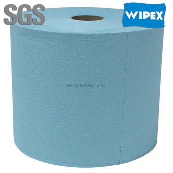 High quality reusable industry cleaning blue jumbo roll paper towel
