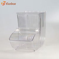 wholesale store acrylic storage box display plastic biscuit lucite candy bin for sale