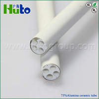 [HUTO CERAMIC] for electrical heating wire usage 75% high temperatur industrial ceramic tube