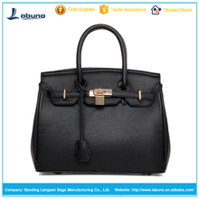 New arrival PU women lady leather handbag