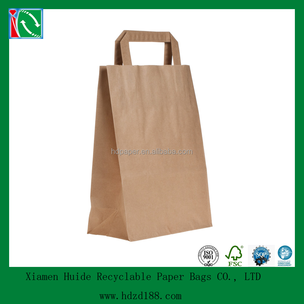 2015 Customized brown krafts paper bag for cupcake