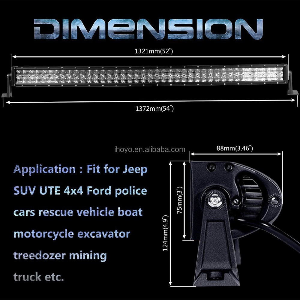 factory direct sales IHY CK-BC21203-5D 52inch 500w high power led light bar