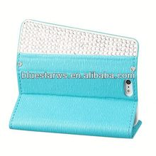 for iphone5 pu leather wallet case cell phone case for iphone5 leather case