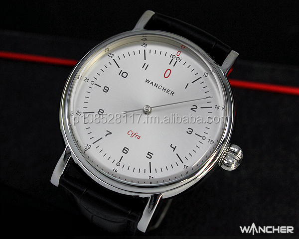 WANCHER New Innovative Cifra One Hand Automatic Mechanical Zero Watch[