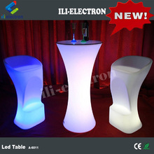Light up led bar table glowing cocktail table led table