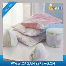 Encai Wholesale 4pcs Nylon Mesh Laundry Bags Set Clothes Protection Washing Bags Cheap Bag For Laundry