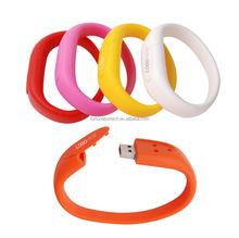 Silicone bracelet usb flash drives 4G three-hole