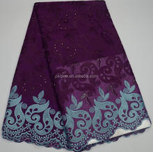KL67002-5 purple High quality african fabric african big swiss voile laces made in china