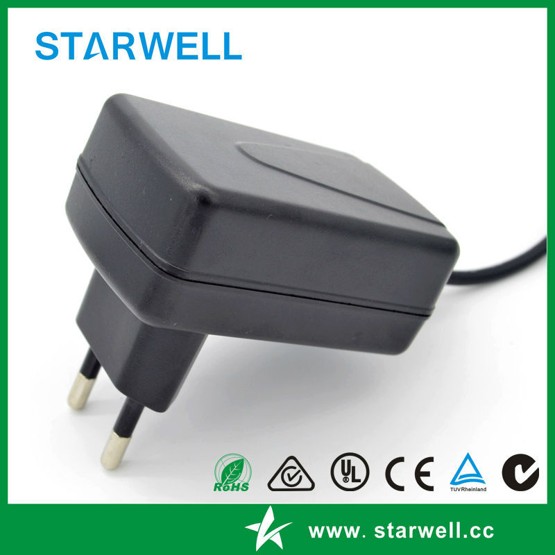 SMS-01090150-S06EU 9V 1.5A adapter with UL CE SAA standard 9V 1.5A power adapter