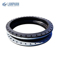 universal flanged single sphere expansion joints rubber with tie rod