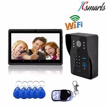 Smart doorbell with camera wireless video door phone with numeric keypad support password unlock