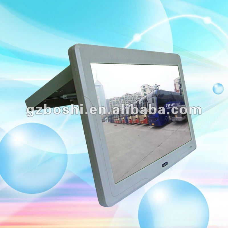 19 Inch car lcd monitor with hdmi input