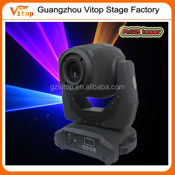 New and energy disco TTL full color rgb 1w moving head animation laser