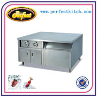 Commerical Stainless Steel kitchen Center Island with cabinet and cup dispender