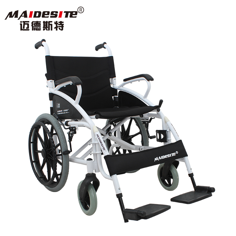 Big size manual folding lightweight disabled wheel chairs with 18 inches seat