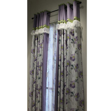 Best price selling overstock printed window treatments polyester cheap curtain