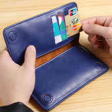 2017 FLOVEME Brand 5.5 inches Genuine Leather Phone Wallet Case Cover Smart Cell Phone Pouch Wallet Bag