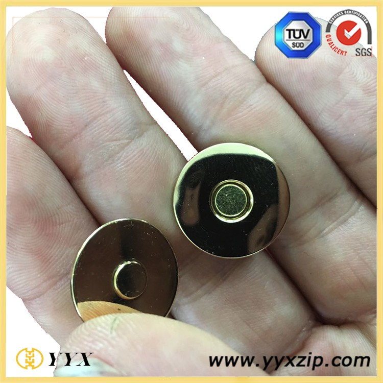 Custom plated gold and silver 18mm magnetic metal button