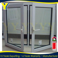 AS2047Australian certified windows manufacture with energy efficient double glazing standard casement window sizes
