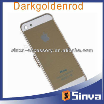Darkgoldenrod color stickers for iPone 5s, shenzhen factory supply
