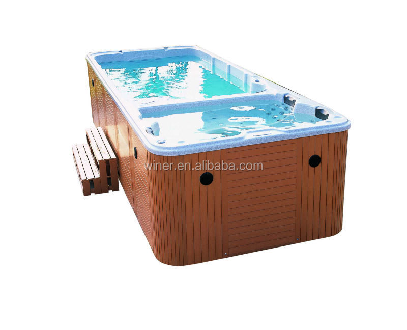 5800mm Custom Freestanding Balboa control system long indoor outdoor acrylic above ground used swimming spa pool for sale