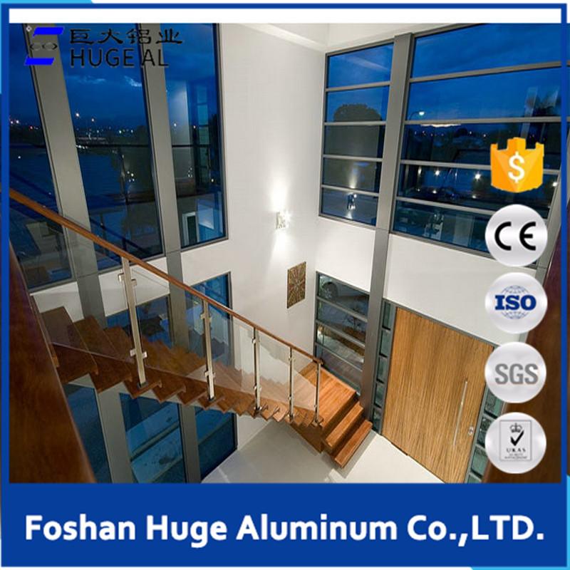 Modern safety glass windows for large design