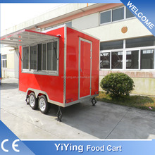 FS400C Yiying factory made brand new galvanised camper fiberglass enclosed trailers for sale