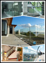 High quality price parapet glass laminated and tempered