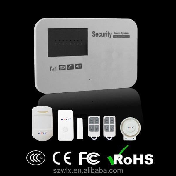 Home Guard, Support iOS&Android APP Control English Voice-prompt Wireless GSM Alarm panel