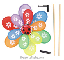 Children Classic Toy Double Layer Ladybug Windmill