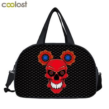 Coor Skeleton Large Travel Duffle Bags Animal Print Portable Handbags Casual Men Travel Bag for Suit 3D Foldable Bag