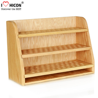 New Design For Your Store Wooden Shelf Makeup Products Display Unit Bamboo Cosmetic Pop Displays