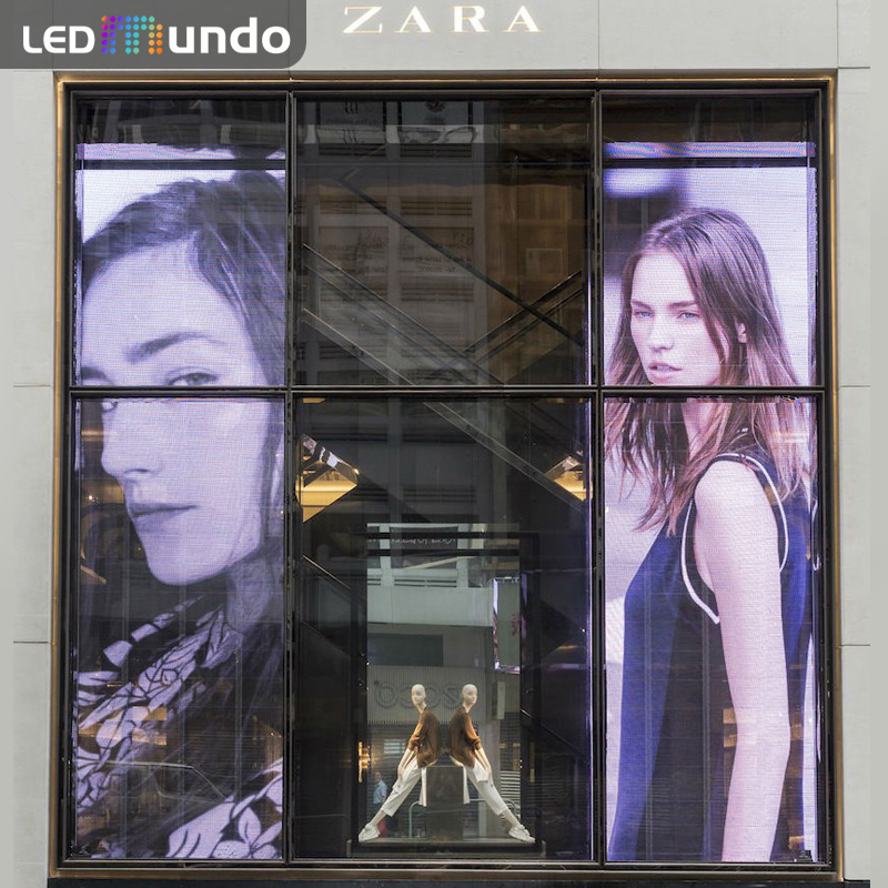P3.91 outdoor Transparent Glass Led Display window screen Full Color Display Panel Price Pantalla led Crystal 500x500mm