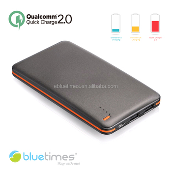 2016 Exclusive Bluetimes 10000mah Smart Quick charge 2.0 power bank for Samsung S6