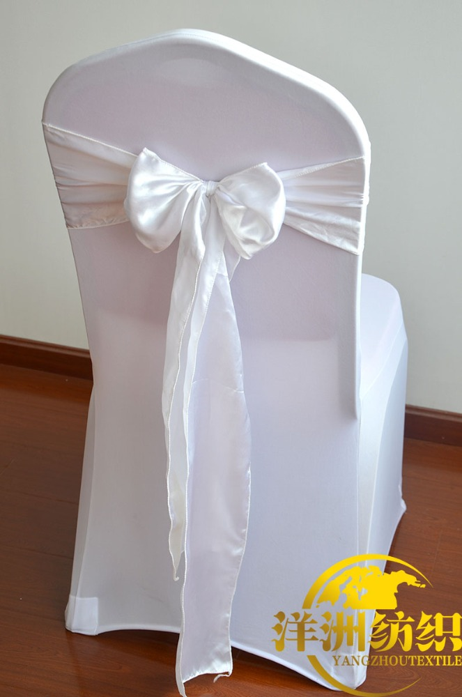 Wedding Decoration Cheap Chair Cover Organza Taffeta Satin Chair Sashes