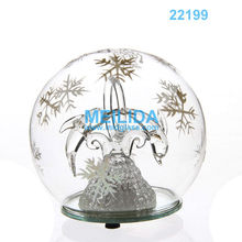 led glass christmas ball light with dolphin inside