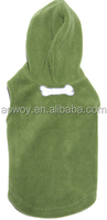 Best selling custom logo green fleece vest hoodie dog clothes pets product32
