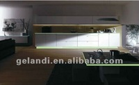 Luminous artificial marble strips for countertops edge and blacksplash