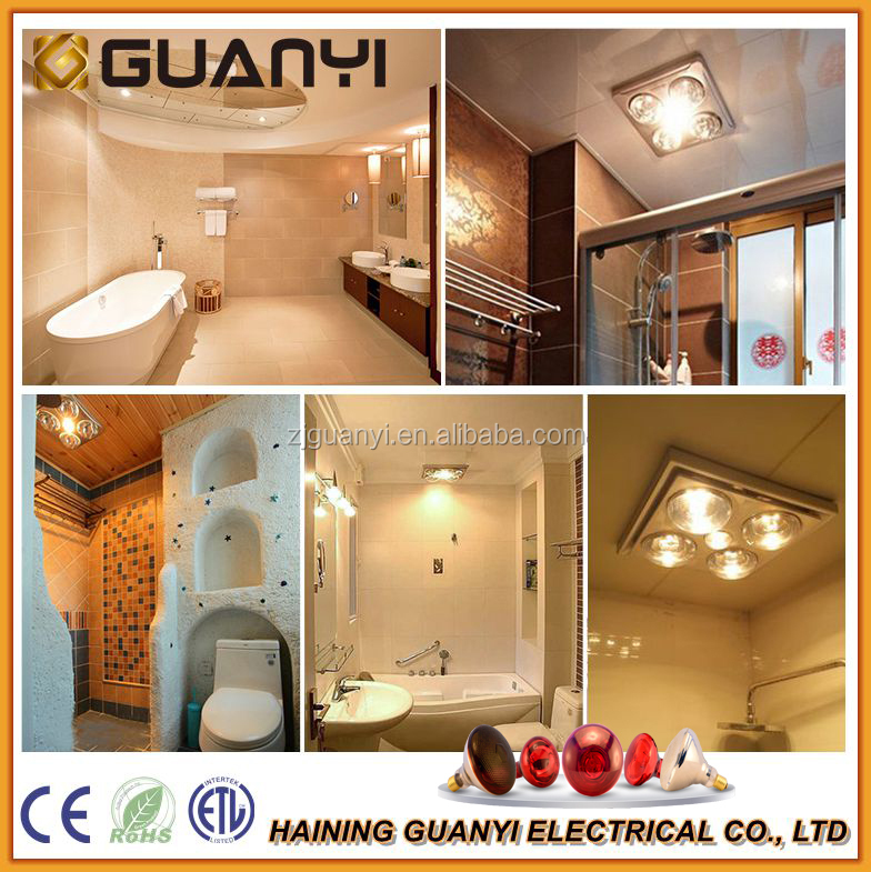 Clear Infrared led Heat Lamp for bathroom with CE ETL RoHS certificate