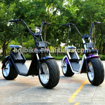 2018 New Design Removable Battery Citycoco electric scooter ,Road Scooter Two Big Tire 2000w Citycoco