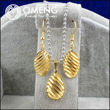 Yellow Fashion Sculpture Hollow Out Bird Nest Pattern Gold Egg Lucky Jewelry Set