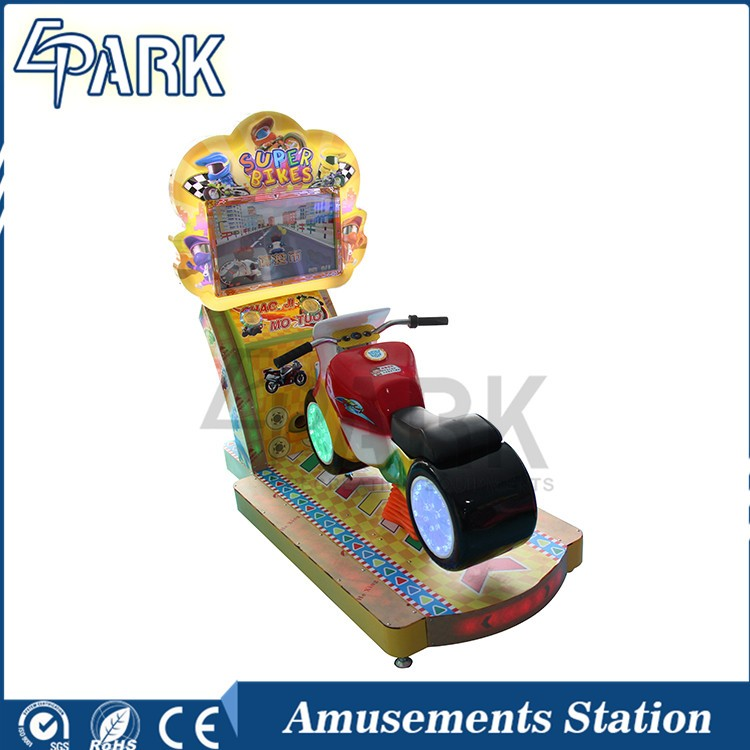 Children Racing Motorbike Game Machine Racing Simulator Kiddie Riding Bike